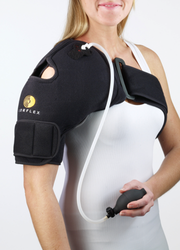 Picture of Corflex Cryo Pneumatic Shoulder Compression Ice Wrap with Cold Therapy