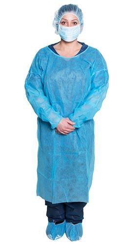 Picture of Isolation Gowns, Blue, Case of (50) Gowns