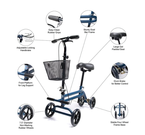 Picture of Kneerover Evolution Steerable Seated Scooter