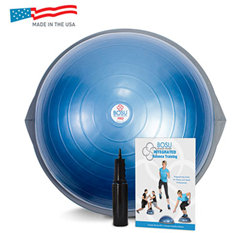 Picture of BOSU PRO Balance Trainer with training manual and instructional video