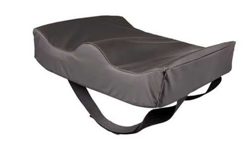 """Picture of 4""""- 3"""" Drop-Seat Coccyx Scoop Cushion for Deep Wheelchairs"""