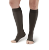 Picture of AW Style 391OT Luxury Opaque Open Toe Knee Highs - 30-40 mmHg