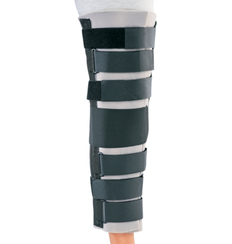 Picture of Universal Foam Knee with Loop Lock Closure, Contour Stays, Open Patella, White