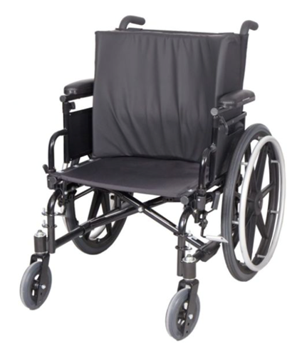 """Picture of Contoured Back Pad for Wheelchairs Standard laterals are 5"""" x 5"""" x 15"""""""