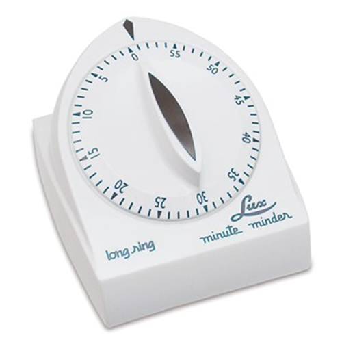 Picture of Lux 60-Minute Extended Ring Timer - White