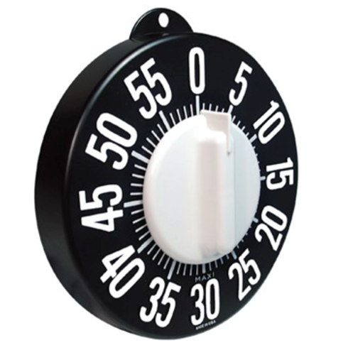Picture of Tactile Long Ring Low Vision Timer - Black Dial