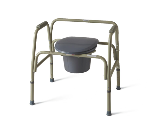 """Picture of Extra-Wide 24"""" Steel Bariatric Commode with 650 lb. Capacity, Elongated**OVERSIZED**"""