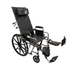 """Picture of ProBasics Reclining Manual Wheelchair 18"""" x 17"""" Removable, Desk-Length Elevating Legrests 300 lb"""