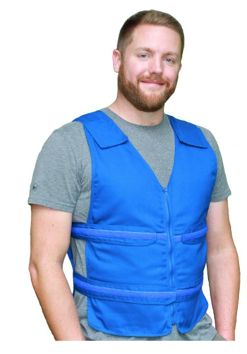 Picture of Kool Max® Deluxe Zipper Vest Kit with Vest Large/Blue, Neck Wrap blue, Extra Packs