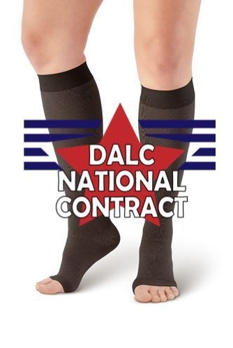 Picture of DALC Compression Stocking Open Toe Knee High 20-30 mmHg