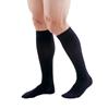 Picture of Medi Duomed Patriot Men's Ribbed Closed Toe Knee High Socks - 20-30 mmHg, Black