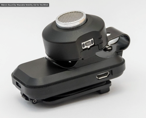 Picture of iMerciv BuzzClip Wearable Mobility Aid for the Blind
