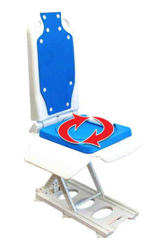 Picture of Tranquilo Premium Electric Bath Lift with Padded Safeswivel Rotating Seat  and Electric and Recline