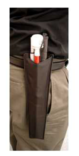 Picture of Black Leather Cane Holster with Belt Clip
