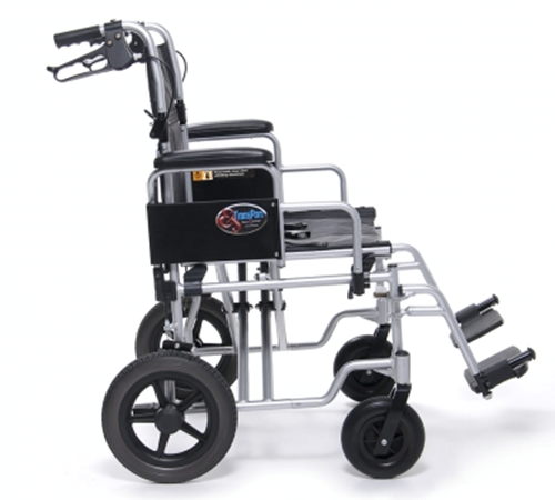 Picture of Bariatric Aluminum Transport Chair 24W (400LS. WEIGHT CAPACITY, EVENLY DISTRIBUTED)