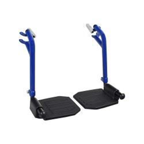 Picture of Bariatric Steel Transport Chair Footrest Set Blue