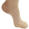 Picture of AW Style 257 Microfiber Opaque Closed Toe Thigh High w/Dot Silicone Band - 15-20 mmHg- Sand