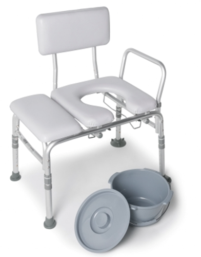 Picture of Padded Transfer Bench w/ Commode Cut out