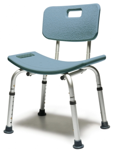 Picture of Lumex Platinum Collection Bath Seat w/Backrest Steel Blue