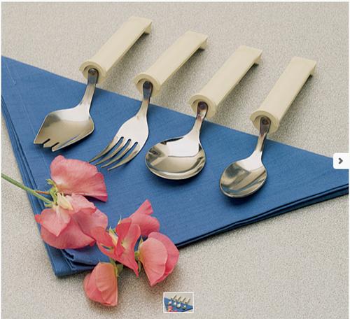 Picture of Plastic Handle Swivel Teaspoon