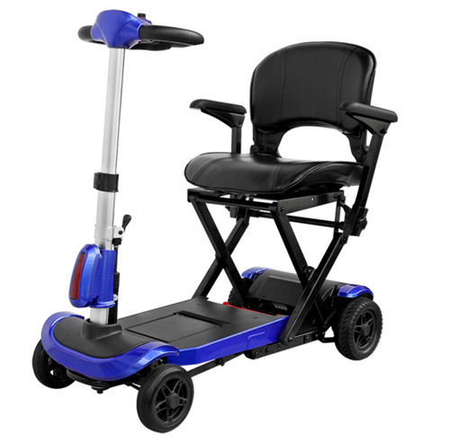 Picture of ZooMe Auto-Flex Folding Travel Scooter, Electric Blue