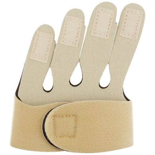 Picture of Rolyan 79451 Soft Hand-Based Ulnar Deviation Insert for Right Hand, Short Splint Insert for Joint Alignment, Aligns The Knuckle Joints in The Hand and Fingers for Pain Relief and Mobility, Small