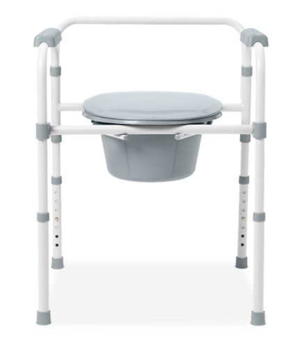 Picture of Steel Elongated Bedside Commode (400 LBS)