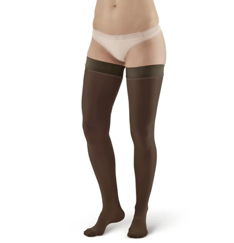 Picture of AW Style 385 Signature Sheers Closed Toe Thigh Highs w/Top Band - 30-40 mmHg-Black