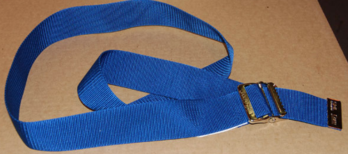 "Picture of EZ Clean Gait Belts 60"" Delrin Buckle - Blue"