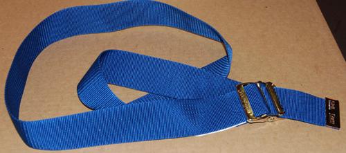 """Picture of EZ Clean Gait Belts 60"""" Delrin Buckle - Blue"""