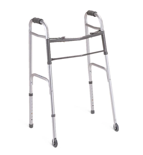 """Picture of Two-Button Folding Walkers with 3"""" Wheels"""