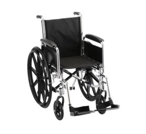 "Picture of Hammertone Wheelchair, 18"" w/ Swingaway Footrest"