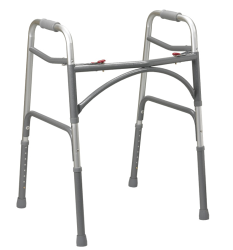 """Picture of Bariatric Aluminum Folding Walker- Two Button (Adult 32""""-  39"""")"""