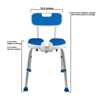 Picture of Padded Bath Shower Safety Seat with Hygienic Cutout and Backrest