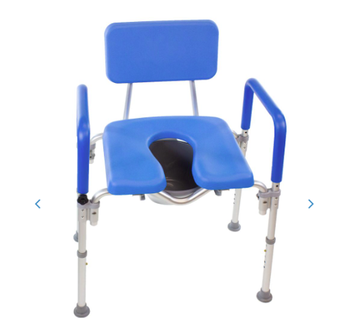 Picture of DIGNITY ULTRA-PREMIUM PADDED BARIATRIC EXTRA LARGE COMMODE/SHOWER CHAIR. 600LB CAPACITY **OVERSIZED**