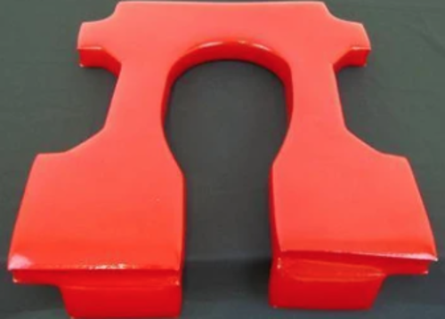 """Picture of Open Front (Incl. Backrest)-Red-1"""" Thick"""
