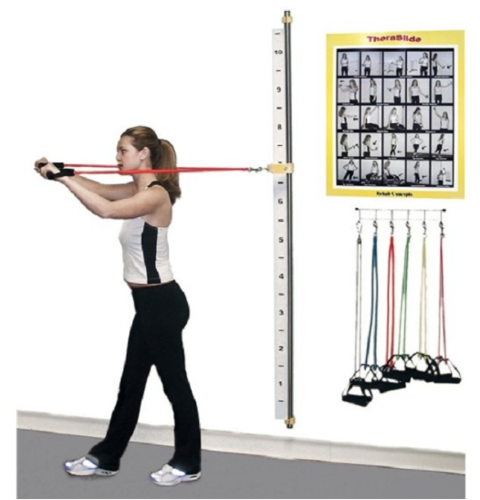 Picture of Wall-Mounted TheraSlide Resistance Band Workout System