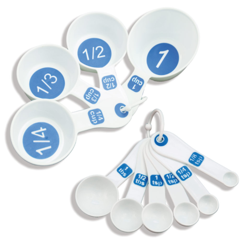 Picture of EZ Large Print Measuring Cup and Spoon 11-pc Set