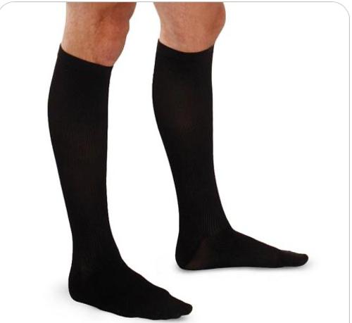Picture of Therafirm Mild Support Men's Knee High Trouser Socks - 15-20 mmHg, Black, Closed Toe, XL