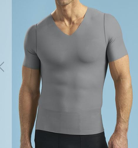 Picture of Short Sleeve V-Neck Compression Shirt, 2XL, Black