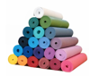 """Picture of 1/4 Inch Yoga Mat (24"""" x 72"""") -Two Tone Black and Blue"""