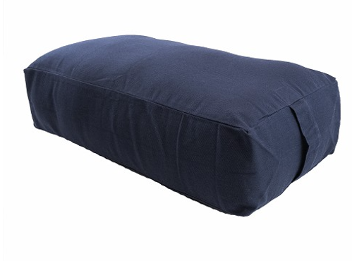 Picture of MaxSupport Deluxe Rectangular Cotton Yoga Bolster- Blue