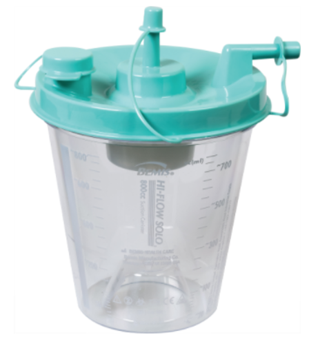 Picture of 800cc Hi-Flow Suction Canister with Aerostat Filters and Float Valve Shutoff
