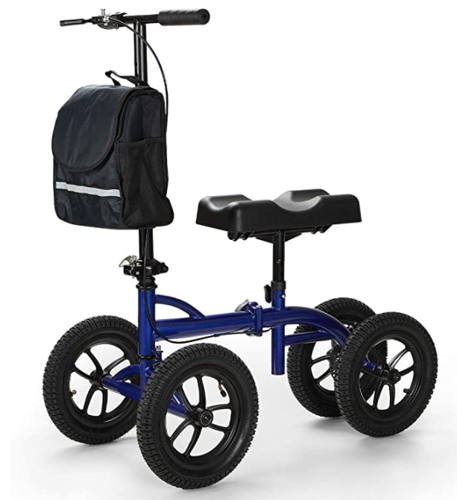 Picture of OasisSpace Bariatric Knee Walker -Heavy Duty Knee Scooter with 12 inch Pneumatic for 500LB