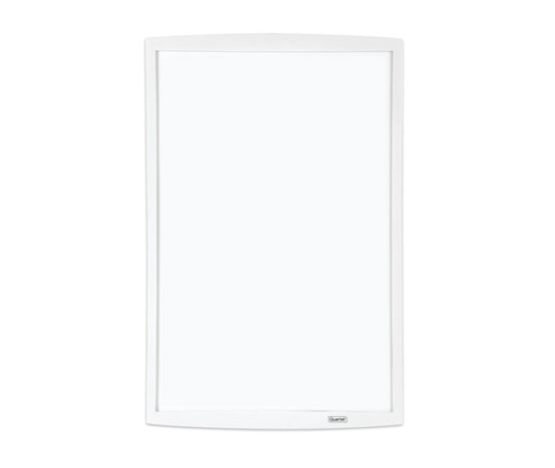"""Picture of Quartet Magnetic Dry-Erase Board with Curved Frame, 11"""" x 14"""", White Frame"""