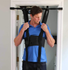 Picture of Sit and Decompress Back Stretcher Spinal Decompression Back Traction Upright Inversion Table Made in USA Chiropractor Designed (Harness w/ Bar)