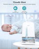 Picture of Cool Mist Humidifier 6L, 26dB Quiet Ultrasonic Humidifiers for Large Bedroom Babies Adults-White