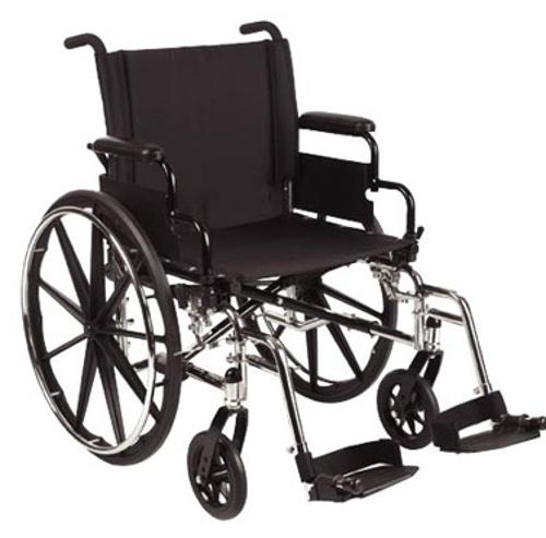 Picture of 9000 XDT 18 x 18 full length arm rest, swing away foot rest, black nylon upholstery