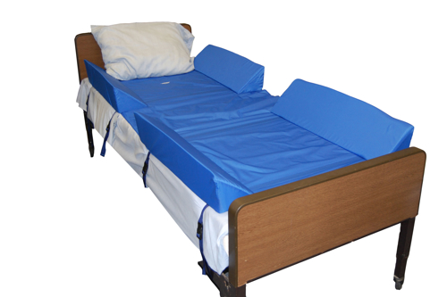 """Picture of 30° Full Body Bed Support System w/4 Attached Bolsters, 74""""L X 34""""W"""