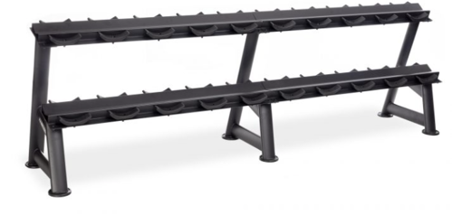 """Picture of 2-Tier Fixed Pro-Style Dumbbell Saddle Rack ((95"""" W x 26"""" D x 32"""" H))"""